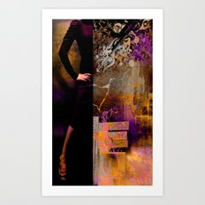 CHAOS WOMAN - Composing with vector design and photo manip Art Print