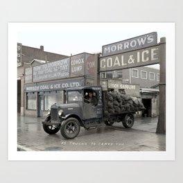 Morrow's Coal and Ice Company at 1025 Main Street, Vancouver - 1931 Art Print