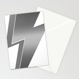 Silver Lightning Bolt Stationery Cards