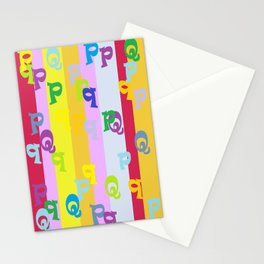 Mind Your P's and Q's Stationery Cards
