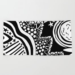 Soul Of The Dream Desert - Star Gazer (Black and White Edition) Beach Towel