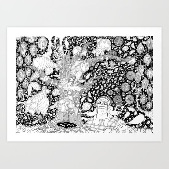 Tea and Lemon. Art Print
