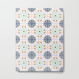 Pastel Moroccan Pattern Metal Print