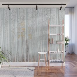 White tree forest Wall Mural