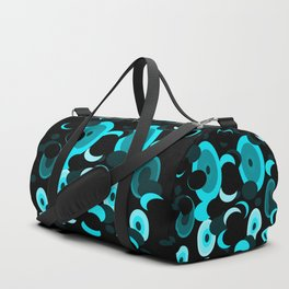 black and blue planets and moons Duffle Bag