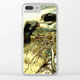 The Two Crows Clear iPhone Case
