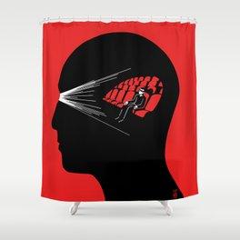 One Man Movie Theatre Shower Curtain