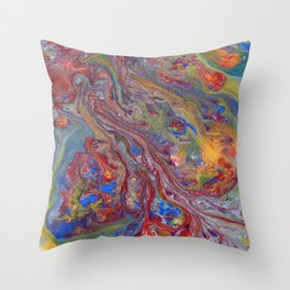 Psychedelic Lava Flow Throw Pillow