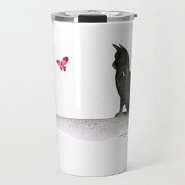 I Love Cats No.4 by Kathy Morton Stanion Travel Mug