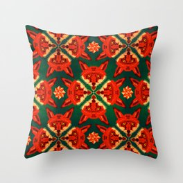 Fox Cross geometric pattern Throw Pillow