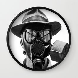 Gas Mask Wall Clock