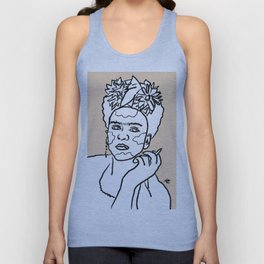 Portrait of Frida Kahlo Unisex Tank Top