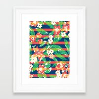 tropical Framed Art Prints featuring Tropical by Steven Toang