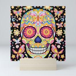 Sugar Skull Art (Mariposa) Mini Art Print