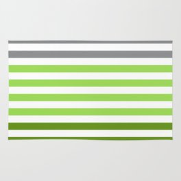 Stripes Gradient - Green Rug