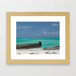 Tropical Bimini waters Framed Art Print