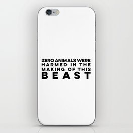 Zero Animals Were Harmed In The Making Of This Beast Vegan Bodybuilding iPhone Skin