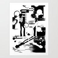 Flashlight City Art Print