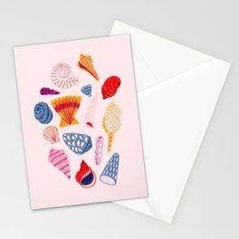 Tropical Seashells Stationery Cards