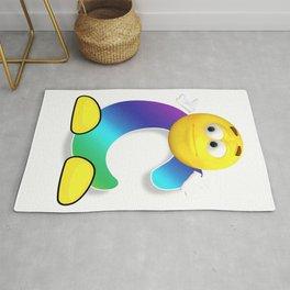 Letter C Alphabet Smiley Monogram Face Emoji Shirt for Men Women Kids Rug
