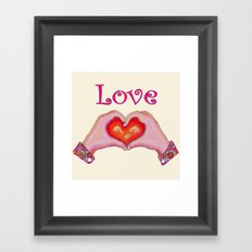 Love Hands Framed Art Print