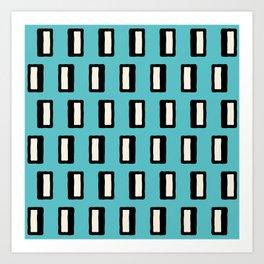 Chad Pattern Turquoise 2 Art Print