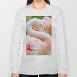 Mad Flamingo (Color) Long Sleeve T-shirt