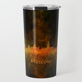 Moscow City Skyline art HQ v4 Travel Mug