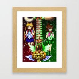 Fusion Sailor Moon Guitar #5 - Sailor Moon & Sailor Jupiter Framed Art Print