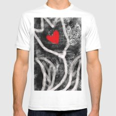 tulip with heart MEDIUM Mens Fitted Tee White