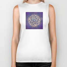 Mandala Chakra Copper and Purple Crown Chakra Biker Tank