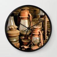 lanterns Wall Clocks featuring lanterns by Lisa Carpenter