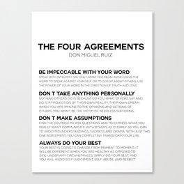 the four agreements Leinwanddruck