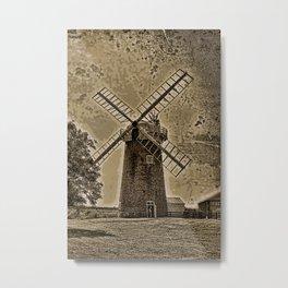 Horsey windpump sepia Metal Print