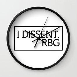 I Dissent, Ruth Bader Ginsburg, RBG, notorious RGB Wall Clock