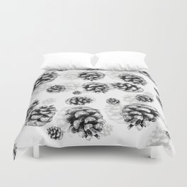 Conifer cone pattern - positive Duvet Cover