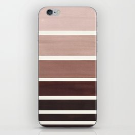 Raw Umber Minimalist Mid Century Modern Color Fields Ombre Watercolor Staggered Squares iPhone Skin