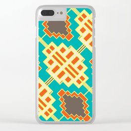 Ornamental retro shapes Clear iPhone Case