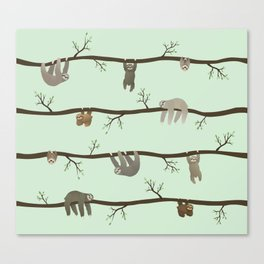 sloths Canvas Print