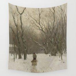 Winter in the Scheveningen Woods - Anton Mauve (1870 - 1888) Wall Tapestry
