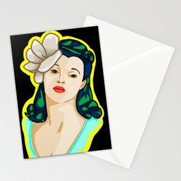 the pin up Stationery Cards