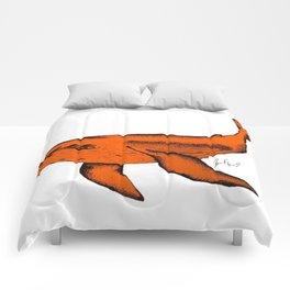 bleu whale no. 2 Comforters