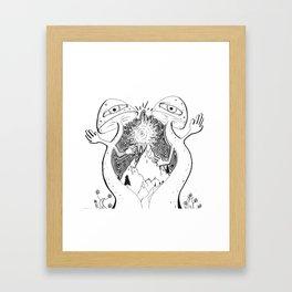 Mushroom Mountain Framed Art Print