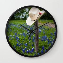 Texas Bluebonnets Wall Clock