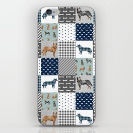 Australian Cattle Dog cheater quilt pattern dog lovers by pet friendly iPhone Skin