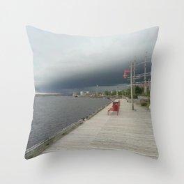 Rain Coming Throw Pillow