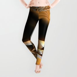 Golden layers of mysterious details Leggings