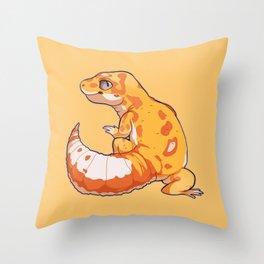 High Contrast Leopard Gecko Throw Pillow