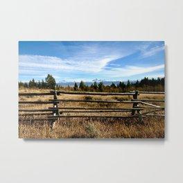 Teton View Metal Print