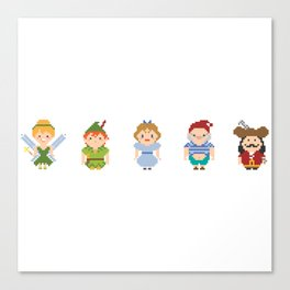 All Pixel Characters Canvas Print